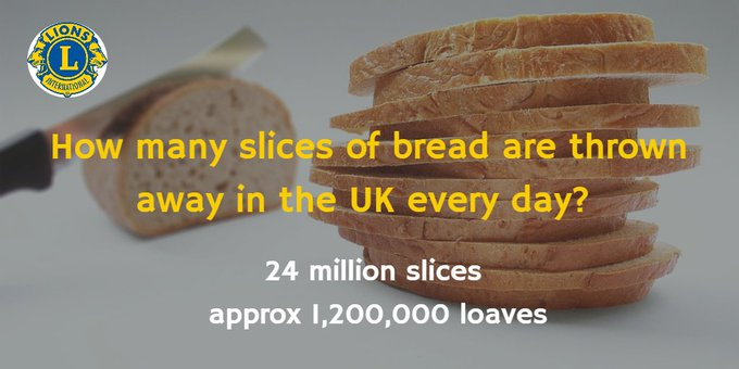 slices of bread thrown